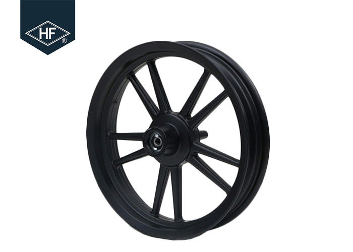 14 Inch Motorcycle Wheel Parts Black Front Rear Scooter Aluminum Alloy Parts